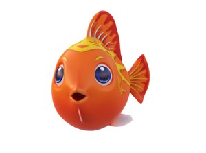 red lyretall molly fish toon 3D