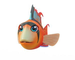 3D bolivian butterfly fish toon