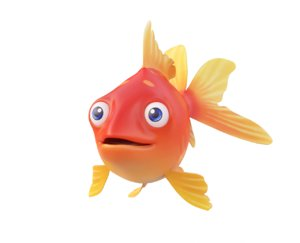 3D common gold fish toon model
