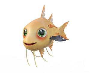 3D fish toon animation