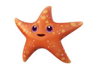 common starfish toon fish 3D model