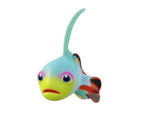 3D model goby fish toon animation
