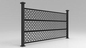 railing garden city 3D