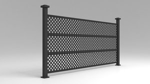 railing garden city 3D model