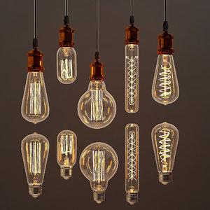 edison lamps 3D model