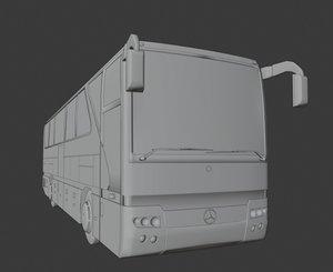 3D mercedes benz tourismo bus interior