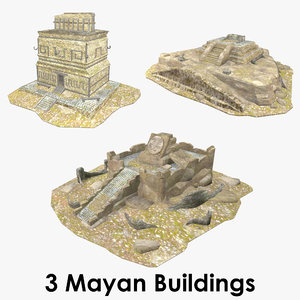 3D model mayan buildings -