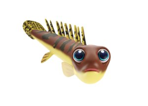 3D barred bichir fish toon model