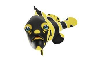 3D gaint grouper fish toon model