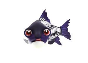 gaint carp fish toon 3D model