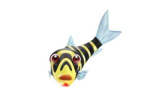 banded leporinus fish toon 3D model