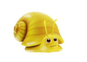3D golden apple snail toon