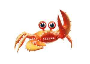 red king crab toon 3D model