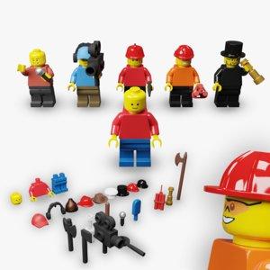 lego minifigs 3D model