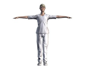 3D model nurse character rigged