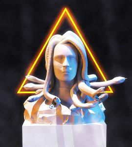 modeled statue 3D