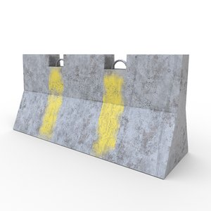 concrete barrier - pbr model