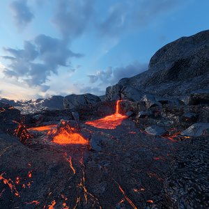 volcanic eruption pbr 3D