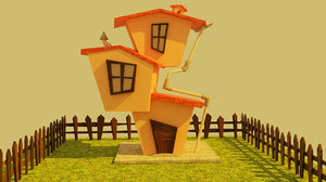 cartoonish house model