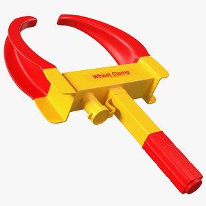 heavy duty lock clamp 3D model