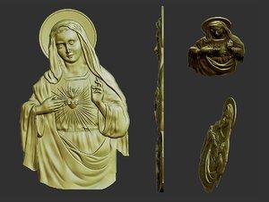 virgin mary 3D model