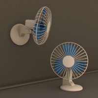 Desk and Wall Fan