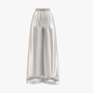 3D model sleep silver pants