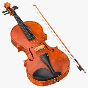 3d model violin instrument