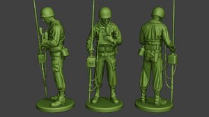 3D soldier ww2 engineer american