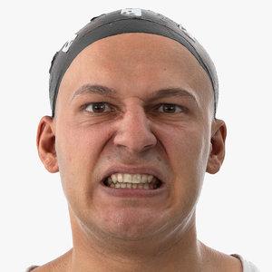 3D model marcus human head lip