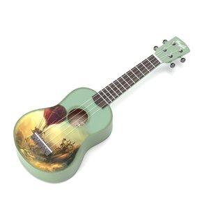 3D string instrument ukulele