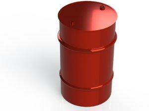 metal barrel 3D model