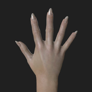 3D rigged woman right hand model