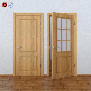 interior veneered doors bravo 3D model