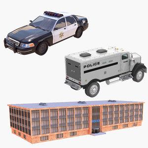 3D model police car building