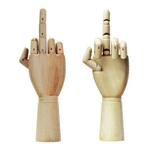 3D figurine wood hand model