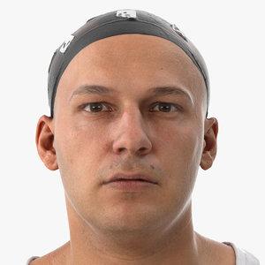 3D marcus human head lip model