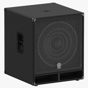 3D professinal speaker yamaha sw118v