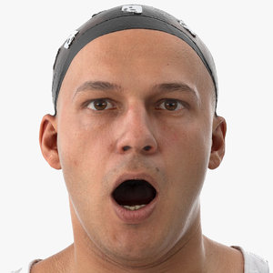 marcus human head mouth 3D model