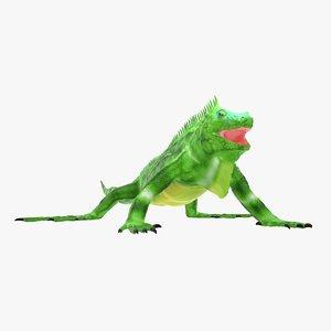 lizards iguana 3D model