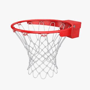 3D basketball basket rim