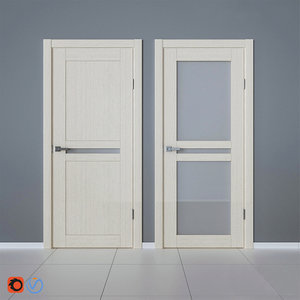 3D model interior veneered doors bravo