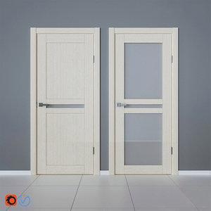 3D model interior veneered doors bravo