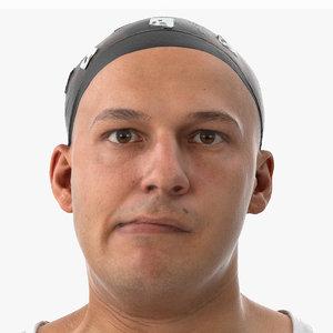 marcus human head jaw 3D model