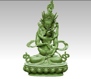 3D tibetan buddha tibet model