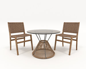 3D model chair modern table
