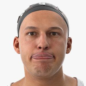 marcus human head tongue 3D model