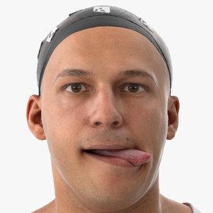 3D marcus human head tongue