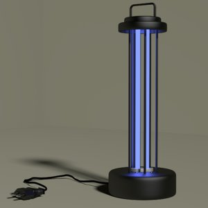 3D model ultraviolet germicidal antibacterial lamp