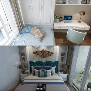 teen parent bedrooms scene model